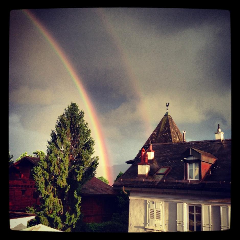 Rainbow over Lac Leman