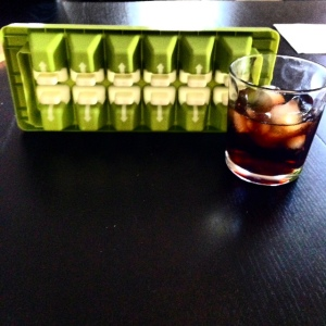 Fancy ice tray bought in Lausanne, Switzerland. Release one ice cube at a time!