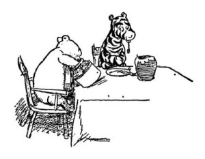 "It is more fun to talk with someone who does not use long, difficult words but rather short, easy words like 'what about lunch?"" Winnie the Pooh"