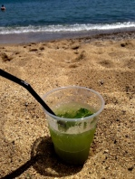 Mojita on the beach at Barcelona!