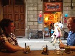 Two of my favorite tourist enjoying conversation and a caipirinha.